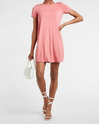 Express Crew Neck T-Shirt Dress