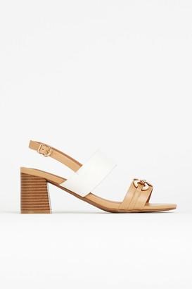 Wallis Nude Trim Block Heel Sandal