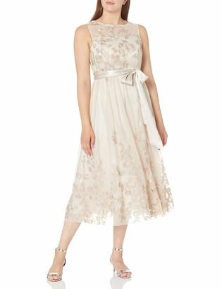 Jessica Howard JessicaHoward Women's Illusion Neckline Gown