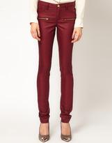 Coated Zip Pocket Jeans