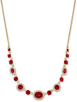 Givenchy Gold-Tone Red Crystal Necklace