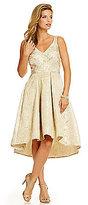 Eva Franco Zander Metallic Brocade Hi-Low Party Dress