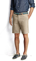 """Classic Men's Fit 9"""" Plain Front Casual Chino Shorts-Sisal"""