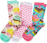 Pink Cookie 3-pk. Sweet Knee-High Socks - Girls 6-11