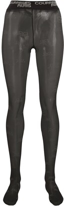 Courreges Logo Waistband Sheer Tights