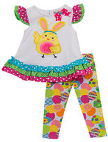 Rare Editions Baby Girls Baby Girls Easter Two-Piece Top and Leggings Set