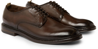 Officine Creative Emory Burnished-Leather Oxford Shoes