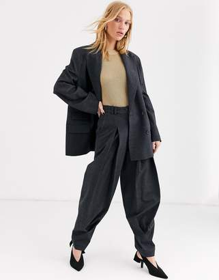 And other stories & Capsule tapered wool trousers in dark grey