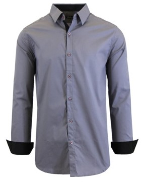 Galaxy By Harvic Men's Long Sleeve Stretch Dress Shirts