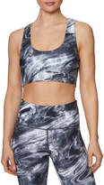 Betsey Johnson Liquid Swirl Racerback Sports Bra