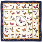Aspinal of London Multi Coloured Butterflies Silk Scarf