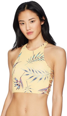 Roxy Women's Printed Softly Love Tankini Crop Top