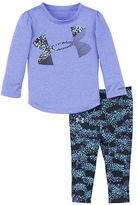 Under Armour Baby Girls Two-Piece Solid Tee and Printed Jogger Pants Set