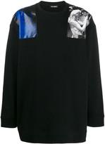 Raf Simons contrast print jumper