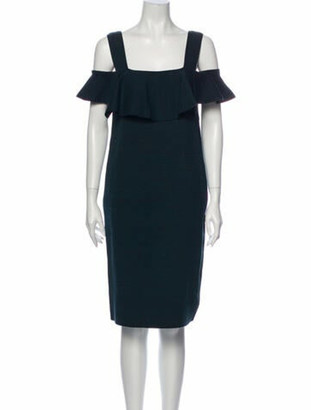 Apiece Apart Square Neckline Knee-Length Dress Green