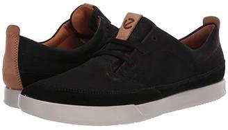 Ecco Cathum Leisure Sneaker (Black/Black/Lion) Men's Shoes