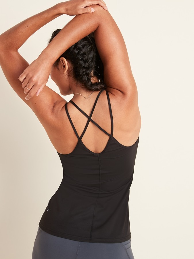 Thumbnail for your product : Old Navy Strappy Powersoft Shelf-Bra Tank Top for Women
