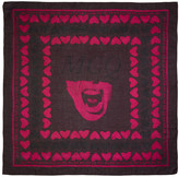 McQ by Alexander McQueen Burgundy Hearts Scarf