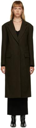 DRAE Brown Felted Wool Coat