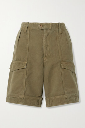 Citizens of Humanity - Lily Cotton And Linen-blend Twill Shorts - Green