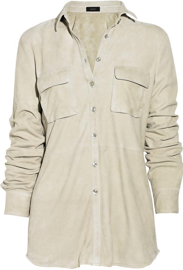 Joseph Suede shirt