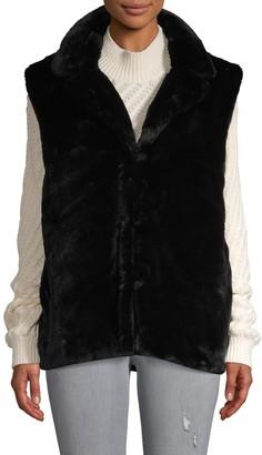 RENVY Short Faux Fur Vest