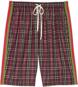 Gucci Oversized Tartan Shorts
