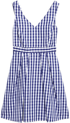 Claudie Pierlot Rencontre Cutout Gingham Cotton-poplin Mini Dress