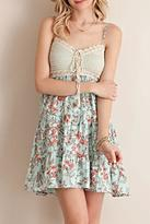 Entro Crochet Bodice Dress