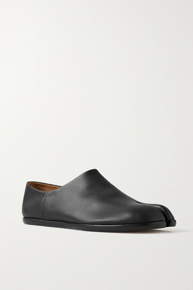 Maison Margiela Split-toe Leather Collapsible-heel Loafers - Black
