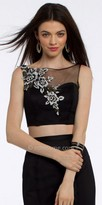 Camille La Vie Embroidered Mesh Crop Top