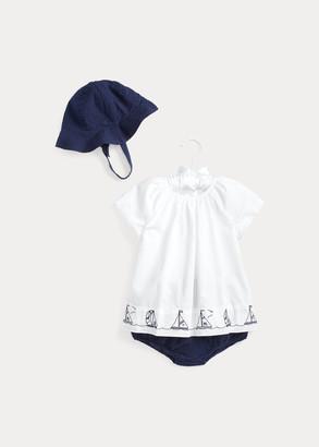 Ralph Lauren Nautical Hat, Top & Short Set