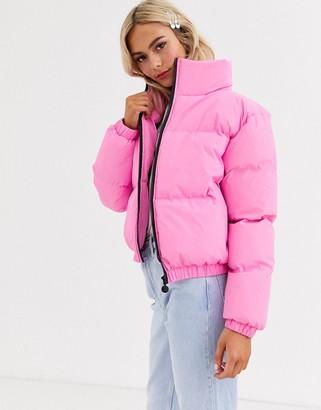 Brave Soul vanessa reflective padded coat