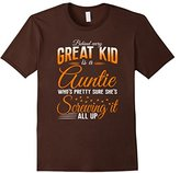 Men's Behind the great kid is auntie onesie funny aunt shirts gift Large