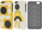 Orla Kiely Two-Part Design Fashion Hardshell Duo Phone Case Pack for iPhone 6/6S - Girl & Big Spot Shadow Flower Design