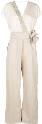 Brunello Cucinelli wrapped V-neck jumpsuit
