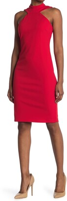 Bebe Bodycon Halter Neck Dress