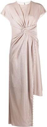 Lanvin metallic asymmetric dress