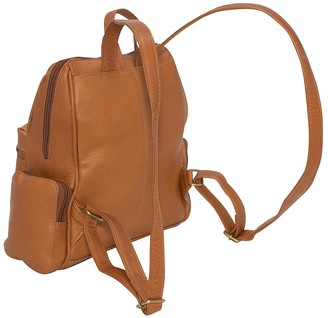 Le Donne Leather Zip Around Four-Pocket Women'sBackpack