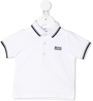 Boss Kidswear Striped Trim Polo Shirt