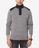 Sean John Men's Big and Tall Marled Henley Sweater