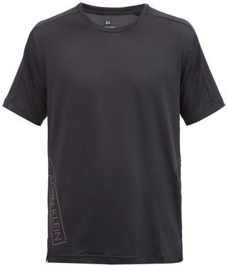 Calvin Klein Reflective Logo-print Technical T-shirt - Black