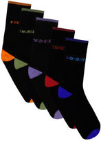 Yours Clothing BadRhino Mens Plus Size 5 Pack Days Of The Week Socks Comfort Rib Top Cotton
