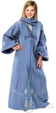 "Disney Frozen 2 Elsa Kids Wearable Throw Blanket with Sleeves, 48"" x 48"""