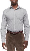 Peter Millar Striped Woven Shirt, Black
