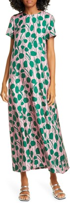 La DoubleJ Floral Silk Maxi Dress