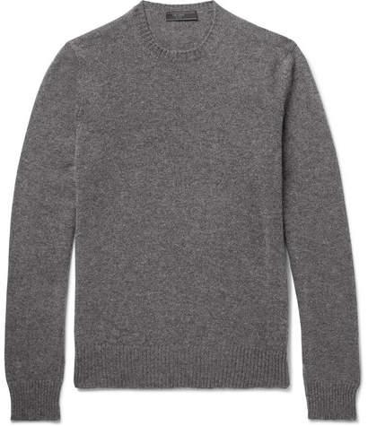 Prada Slim-Fit Mélange Cashmere Sweater