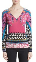 Etro Women's Geo Silk & Cashmere Sweater
