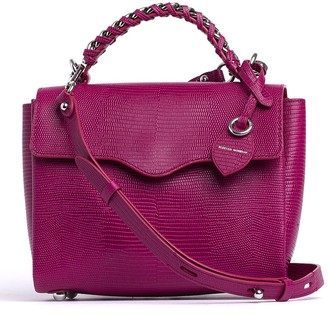 Rebecca Minkoff Lizard Embossed Chain Strap Leather Satchel