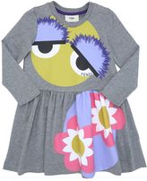 Fendi Monster Printed Cotton Dress